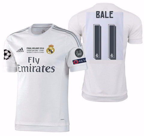 ADIDAS GARETH BALE REAL MADRID AUTHENTIC FINAL UEFA CHAMPIONS LEAGUE MATCH JERSEY 2015/16.