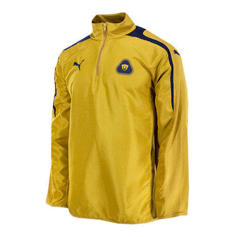 PUMA PUMAS UNAM 1/4 ZIP TRAINING TOP Gold/Navy.