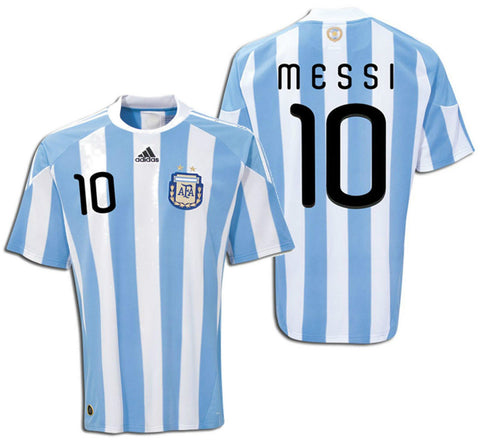 ADIDAS LIONEL MESSI ARGENTINA HOME JERSEY FIFA WORLD CUP SOUTH AFRICA 2010 1