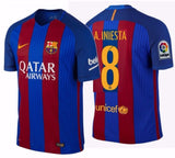 NIKE ANDRES INIESTA FC BARCELONA AUTHENTIC VAPOR MATCH HOME JERSEY 2016/17.
