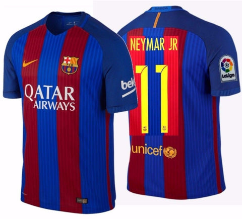 NIKE NEYMAR JR. FC BARCELONA AUTHENTIC VAPOR MATCH HOME JERSEY 2016/17.