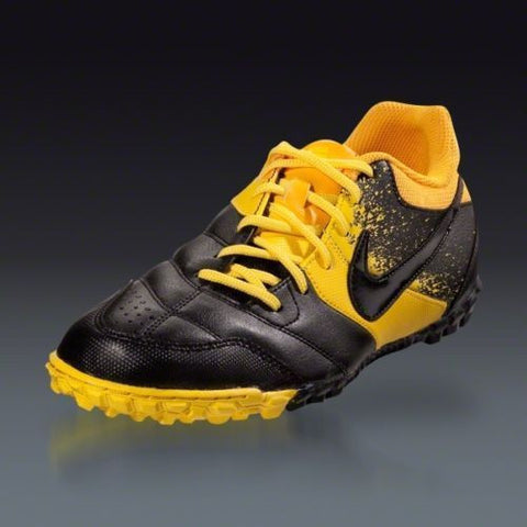 NIKE NIKE5 BOMBA TURF SOCCER SHOES Gold/Black.