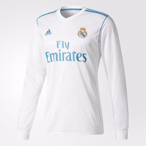 Adidas Real Madrid Long Sleeve Home Jersey 2017/18 B31106