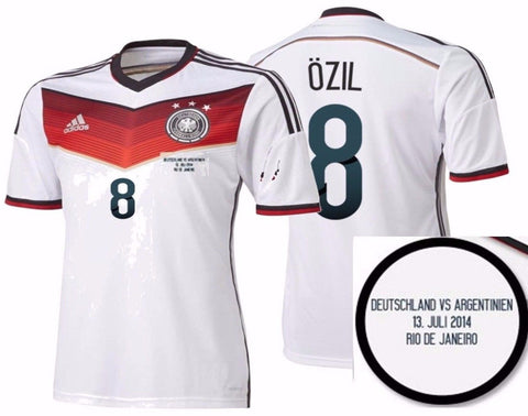 ADIDAS M. OZIL GERMANY AUTHENTIC FINAL GAME JERSEY FIFA WORLD CUP BRAZIL 2014