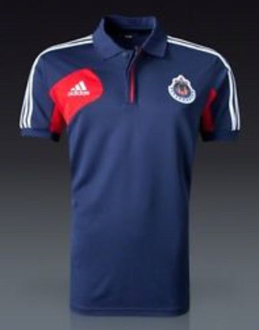 ADIDAS CHIVAS GUADALAJARA TRAVEL POLO SHIRT.