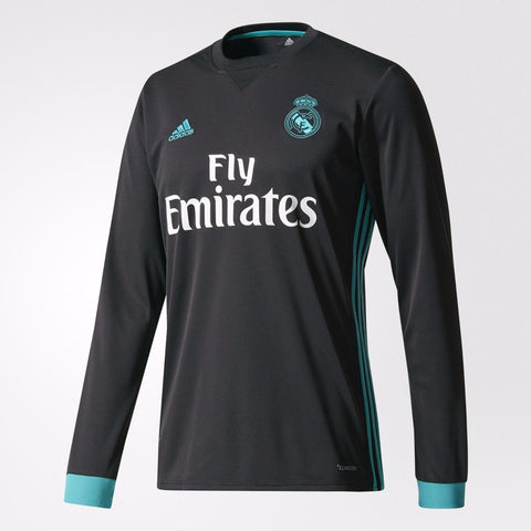 ADIDAS REAL MADRID LONG SLEEVE AWAY JERSEY 2017/18.