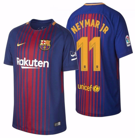 NIKE NEYMAR JR. FC BARCELONA HOME YOUTH JERSEY 2017/18.