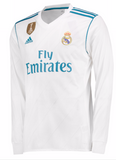 ADIDAS CRISTIANO RONALDO REAL MADRID LONG SLEEVE HOME JERSEY 2017/18 FIFA PATCH 1