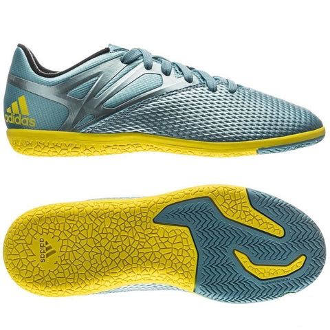 ADIDAS MESSI 15.3 IN INDOOR SOCCER SHOES YOUTH Ice/Bright Yellow/Core Black