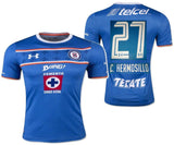 UA UNDER ARMOUR CARLOS HERMOSILLO CRUZ AZUL HOME JERSEY 2015/16.