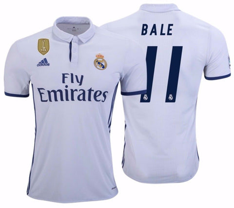 ADIDAS GARETH BALE REAL MADRID FIFA PATCH HOME JERSEY 2016/17.