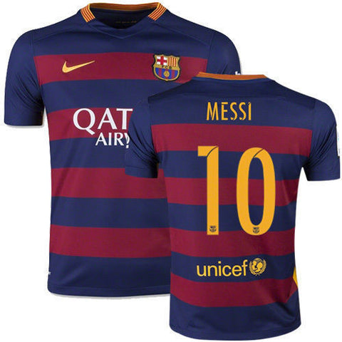 info for 46f09 a898b NIKE LIONEL MESSI FC BARCELONA HOME YOUTH JERSEY 2015/16