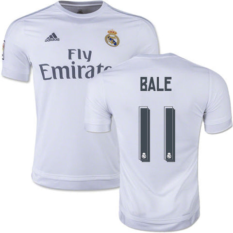 ADIDAS GARETH BALE REAL MADRID HOME JERSEY 2015/16 LA LIGA SPAIN.