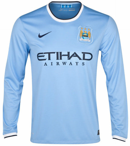 NIKE MANCHESTER CITY LONG SLEEVE HOME JERSEY 2013/14 0