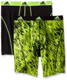 "ADIDAS SPORT PERFORMANCE UNDERWEAR 9"" MIDWAY Climalite Draven/Black/Solar Slime"