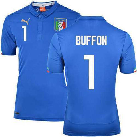 PUMA GIANLUIGI BUFFON ITALY HOME JERSEY FIFA WORLD CUP BRAZIL 2014.