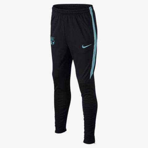 NIKE FC BARCELONA STRIKE TECH TRAINING YOUTH PANTS Black / Blue 1