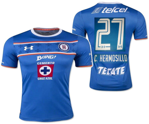 UA UNDER ARMOUR C. HERMOSILLO CEMENTEROS CRUZ AZUL HOME JERSEY 2015/16