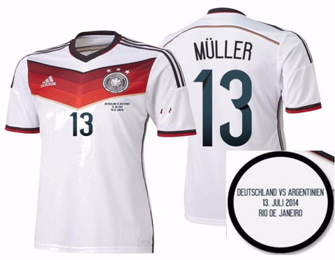 bdc6b6a360c ADIDAS THOMAS MULLER GERMANY AUTHENTIC FINAL GAME JERSEY FIFA WORLD CUP  BRAZIL 2014