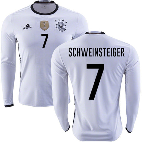 Adidas Schweinsteiger Germany Long Sleeve Home Jersey 2016 AA0147