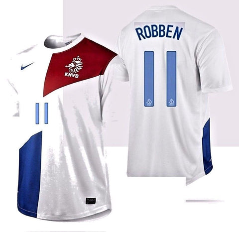 NIKE ARJEN ROBBEN NETHERLANDS AWAY JERSEY 2013/14 HOLLAND DUTCH.