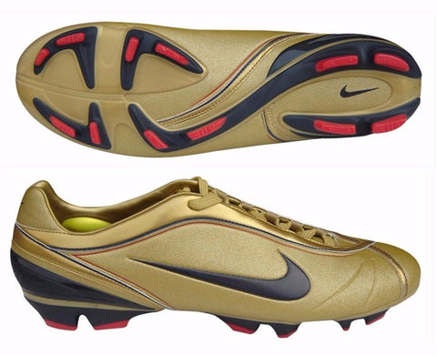 NIKE FIRST2 PRO FIRM GROUND SOCCER SHOES WOMEN'S Mettalic Gold.