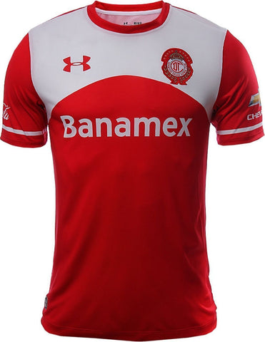 UA UNDER ARMOUR CLUB DEPORTIVO TOLUCA HOME JERSEY 2015/16