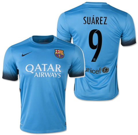NIKE LUIS SUAREZ FC BARCELONA THIRD NIGHT RISING JERSEY 2015/16.