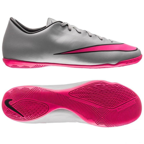 NIKE MERCURIAL VICTORY V IC INDOOR SOCCER FUTSAL CR7 SHOES Wolf Grey/Black