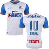 UA UNDER ARMOUR CHRISTIAN GIMENEZ CRUZ AZUL AWAY JERSEY 2015/16.