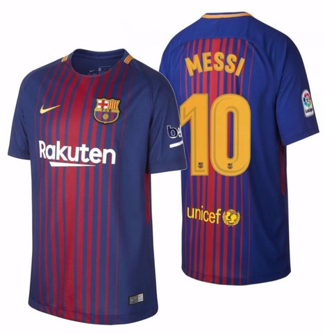 NIKE LIONEL MESSI FC BARCELONA HOME YOUTH JERSEY 2017/18.