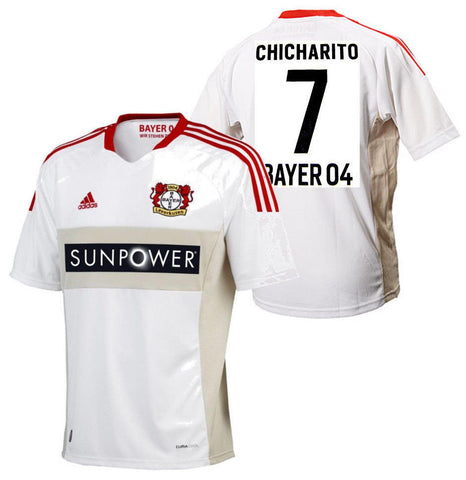 ADIDAS CHICHARITO BAYER LEVERKUSEN YOUTH AWAY JERSEY White/Red.