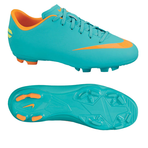 NIKE MERCURIAL VICTORY III FG JUNIOR FIRM GROUND YOUTH SOCCER SHOES Retro/Orange
