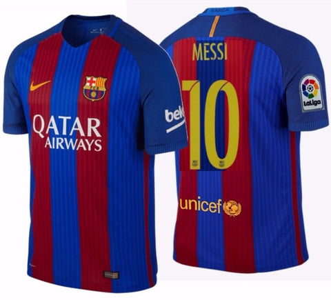 NIKE LIONEL MESSI FC BARCELONA AUTHENTIC VAPOR MATCH HOME JERSEY 2016/17.
