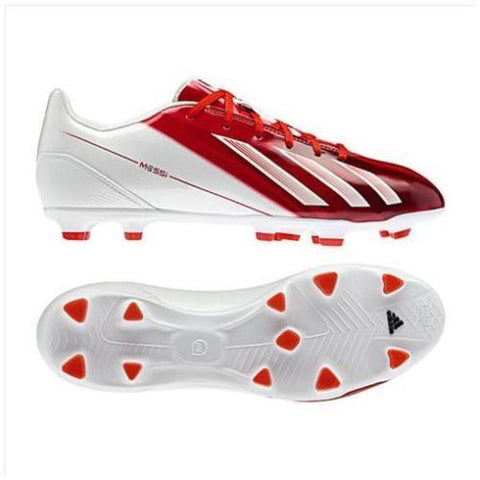 ADIDAS MESSI F10 TRX FG FIRM GROUND SOCCER SHOES Red/White.
