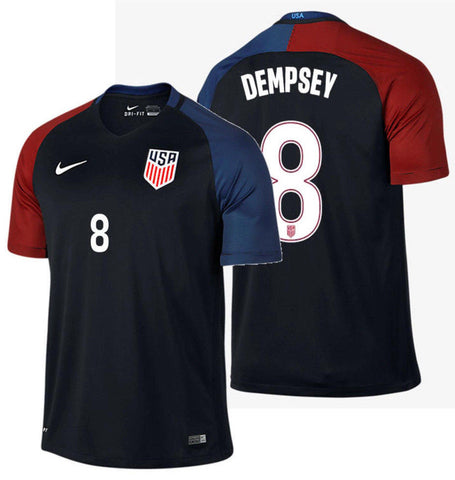 NIKE CLINT DEMPSEY USA AWAY JERSEY 2016/17