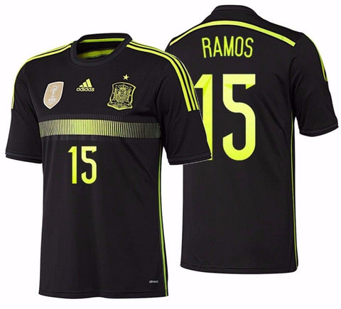 ADIDAS SERGIO RAMOS SPAIN AWAY JERSEY FIFA WORLD CUP BRAZIL 2014.