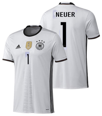 ADIDAS GERMANY EURO 2016 MANUEL NEUER HOME JERSEY White/Black.
