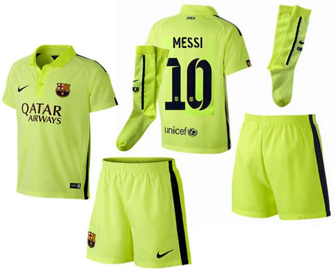 NIKE LIONEL MESSI FC BARCELONA LITTLE BOYS THIRD KIT 2014/15
