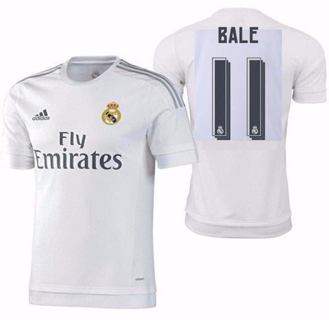 ADIDAS GARETH BALE REAL MADRID AUTHENTIC HOME MATCH JERSEY 2015/16.