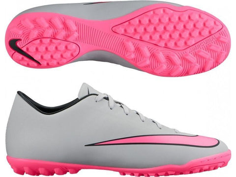 NIKE MERCURIAL VICTORY V TF SOCCER TURF FUTSAL CR7 SHOES Wolf Grey/Black/