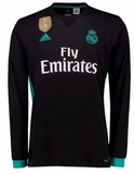 ADIDAS REAL MADRID LONG SLEEVE AWAY JERSEY 2017/18 FIFA PATCH.