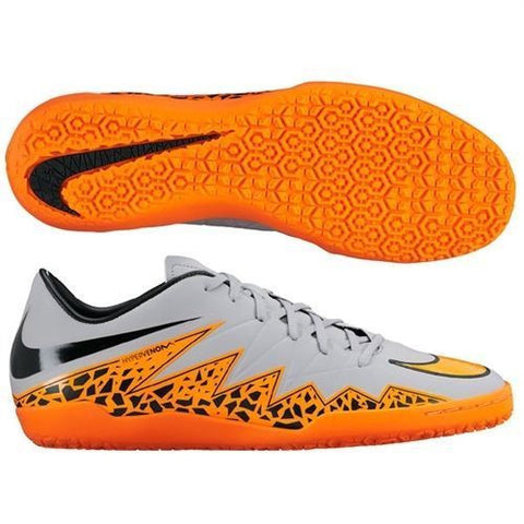various colors 60e6d bb68a NIKE HYPERVENOM PHELON II IC INDOOR SOCCER SHOES Wolf Grey/Black/Total  Orange