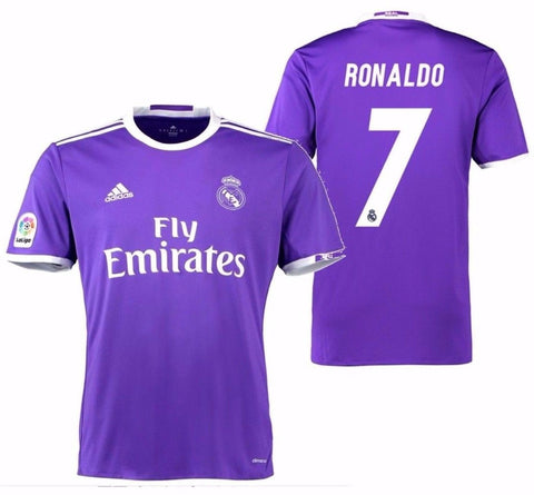 newest 76a77 04cc5 ADIDAS CRISTIANO RONALDO REAL MADRID AWAY JERSEY 2016/17.