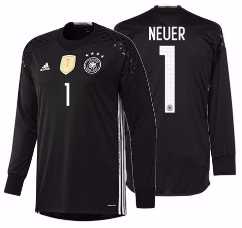 ADIDAS MANUEL NEUER GERMANY EURO 2016 GOALKEEPER HOME JERSEY Black/White.