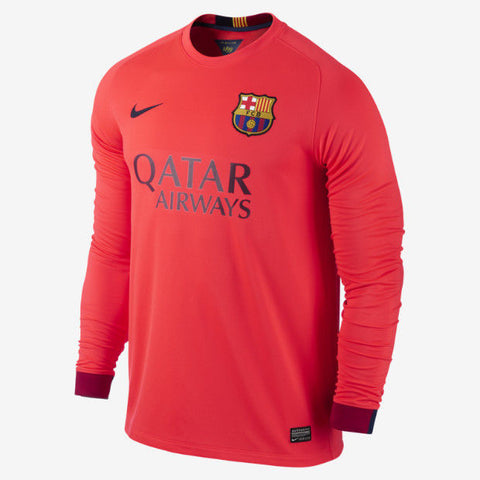 more photos 33efe fb13a NIKE L. SUAREZ FC BARCELONA LONG SLEEVE AWAY JERSEY 2014/15 FOOTBALL LA LIGA
