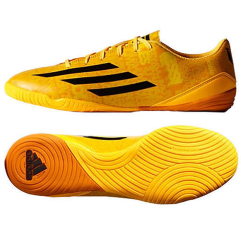 ADIDAS MESSI F10 IN INDOOR SOCCER SHOES FUTSAL Solar Gold/Black/Black