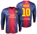 NIKE LIONEL MESSI FC BARCELONA LONG SLEEVE HOME JERSEY 2012/13.
