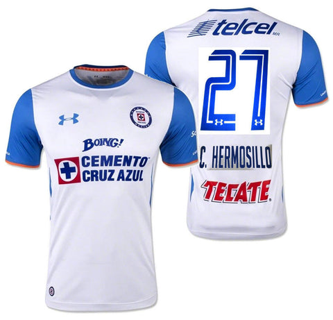 UA UNDER ARMOUR CARLOS HERMOSILLO CRUZ AZUL AWAY JERSEY 2015/16.
