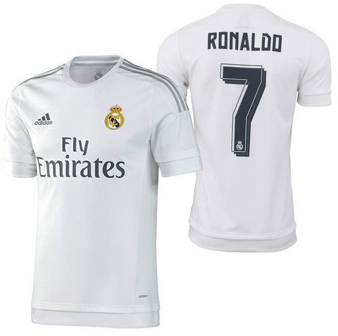 ADIDAS CRISTIANO RONALDO REAL MADRID AUTHENTIC HOME MATCH JERSEY 2015/16